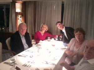 Saga Sapphire with Peter and Sylvia Sissons and the gorgeous Cindy