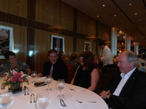 singles lunch on the QM2 where I was surrounded by lovely ladies