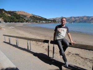 On the QM2 on the world voyage in New Zealand